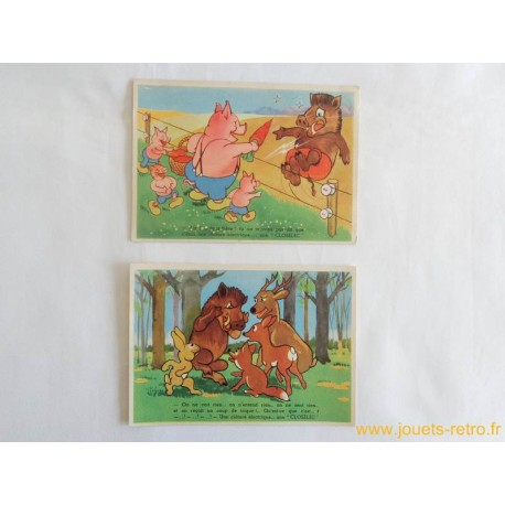 Lot de 2 cartes postales pubicitaires anciennes CLOSELEC