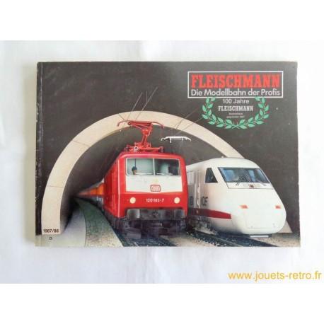 catalogue train Fleischmann 1987/88 100 ans