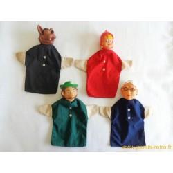 """Lot marionnettes """"Le petit chaperon rouge"""""""