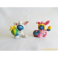 Lot figurines Schtroumpfs schleich Peyo 1982