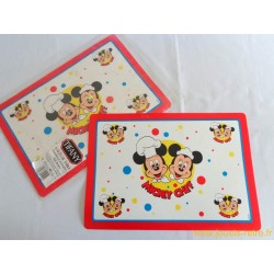 "Lot de 6 sets de table ""Mickey chef"""