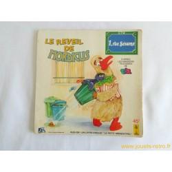 """""""Le réveil de Mordicus"""" 1 rue Sésame - Livre disque 45T"""