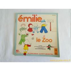 Emilie et le zoo - Livre disque 45T