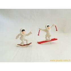 Lot de 2 figurines publicitaires glace Gervais
