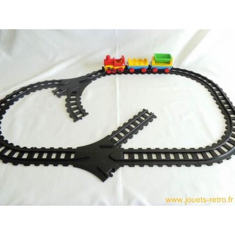 circuit train Playmobil 1 2 3 1989