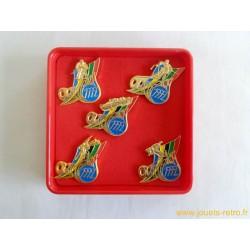 coffret 5 pin's JO Alberville 1992