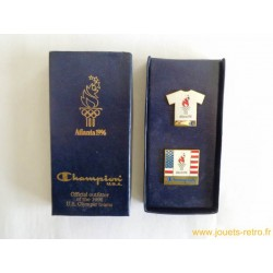 coffret 2 pin's JO Atlanta 1996 Champion USA