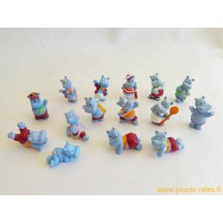 "lot figurines Kinder ""Hippos"""