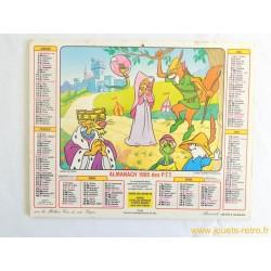 Almanach des PTT 1985 disney