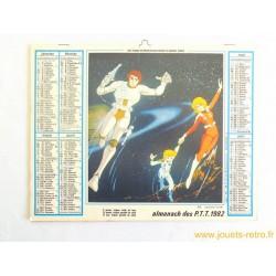 Almanach des PTT 1982 Capitaine Flam