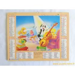 Almanach du facteur 1989 Titi et Grominet / Bugs Bunny