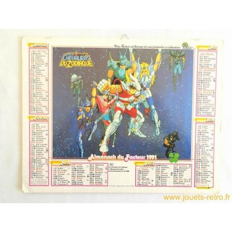 Almanach du facteur 1991 Les chevaliers du zodiaque