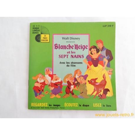Blanche neige et les sept nains - 33T Livre disque vinyle