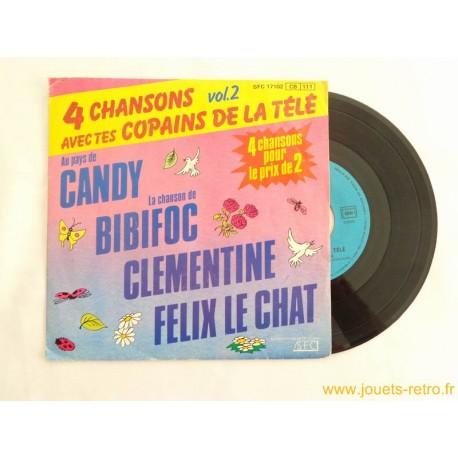 4 chansons avec tes copains de la télé vol2 - 45T disque vinyle