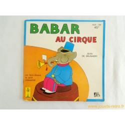 Babar au cirque - 45T Livre disque vinyle
