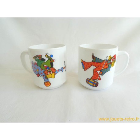 Lot de Mugs Arcopal Clowns