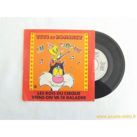 Titi et Rominet au cirque - 45T disque vinyle
