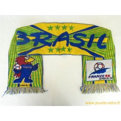 Echarpe football Brésil France 98