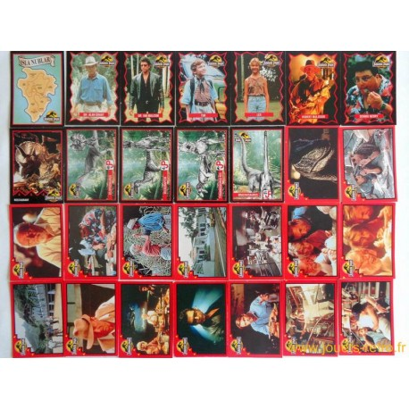 Lot de 59 cartes Jurassic Park Euroflash