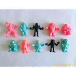 """""""Les Cosmix"""" lot de 10 figurines différentes - Idéal 1991"""