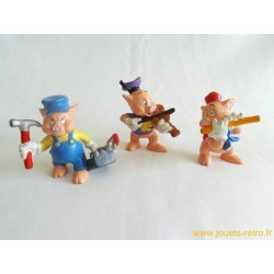"""Lot figurines """"les 3 petits cochons"""" Bullyland"""