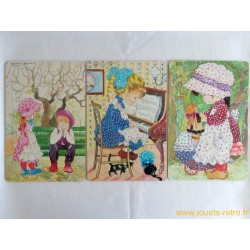 "Lot 3 puzzles ""Dolly Dolly"""