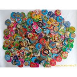 Gros lot Pogs, Flips, Caps, Kinis