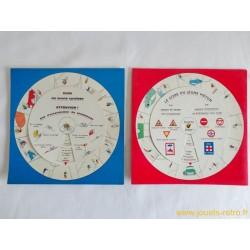 Lot disques code de la route enfant vintage