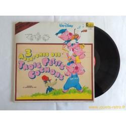 3 aventures des trois petits cochons Disney - 33T Livre disque vinyle